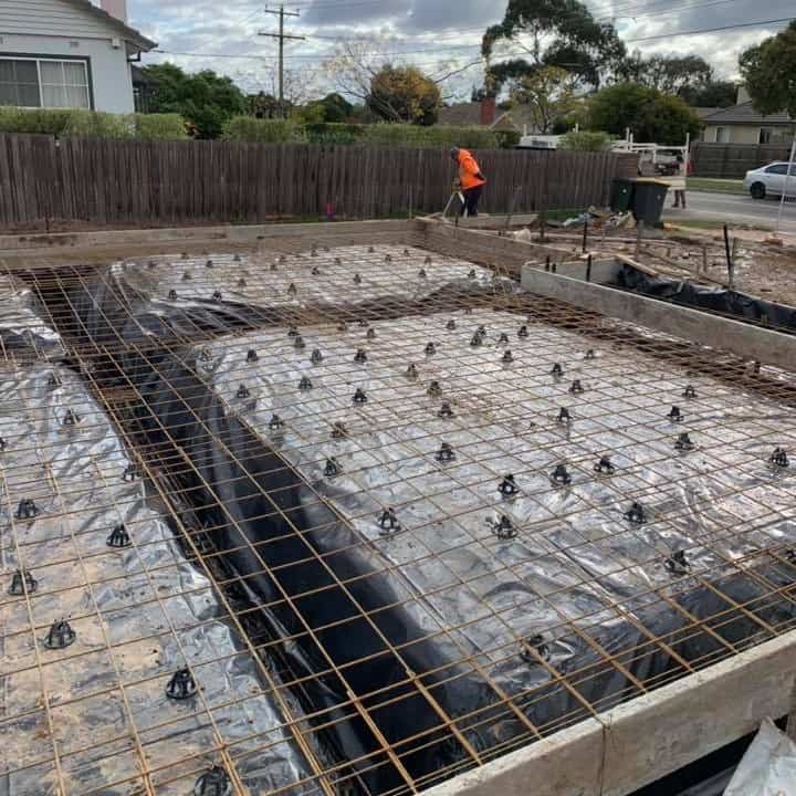 pre pour concrete slab inspection